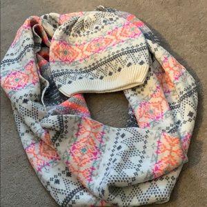 American Eagle hat/beanie snood/infinity scarf